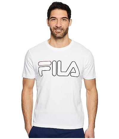Fila Borough T-Shirt (White/Black/Red) Men