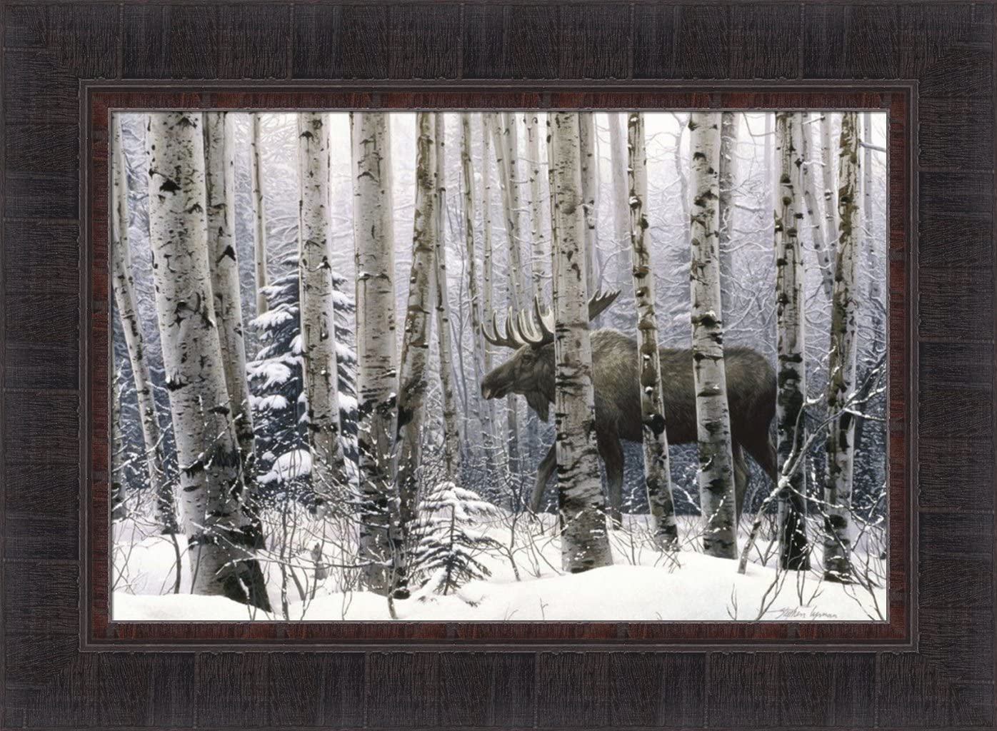 Home Cabin Décor A Walk in Award The by Moos Stephen NEW Lyman 17x23 Woods