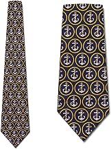 Navy Anchors Aweigh Tie- Mens Nautical Necktie