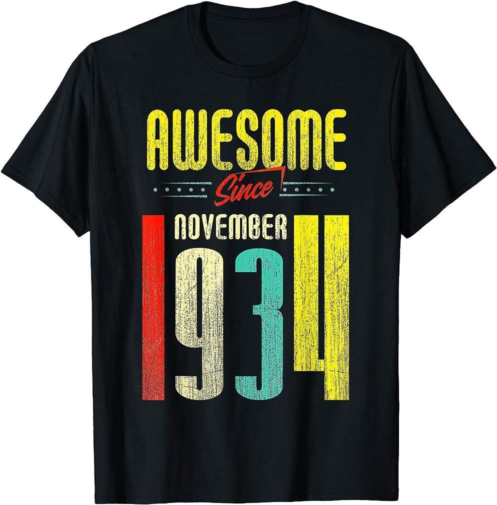 Born November 1934 85th Birthday Awesome Since November 1934 T-shirt