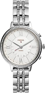 Fossil Women's Jacqueline Stainless Steel Hybrid Smartwatch, Color: Silver (Model: FTW5033)