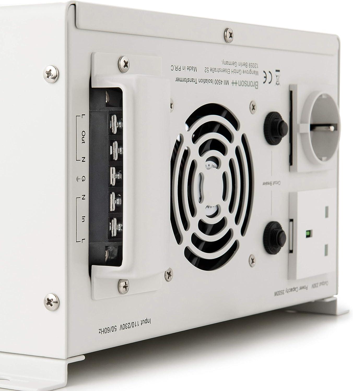 Out 110V//230V in MII 300 Transformateur disolation galvanique//disolement//de s/éparation 300 Watts 230V Bronson+
