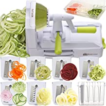 Brieftons 7-Blade Spiralizer: Strongest-and-Heaviest Duty Vegetable Spiral Slicer, Best Veggie Pasta Spaghetti Maker for L...