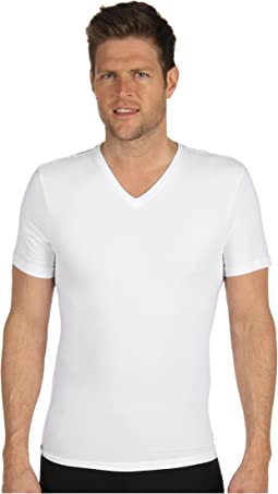 Cotton Compression V-Neck