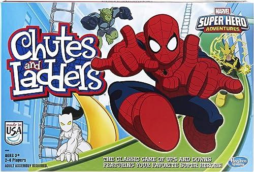 Hasbro Gaming Marvel Spider-Man Web Warriors Chutes & Ladders Game (Amazon Exclusive)