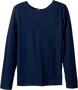 Long Sleeve Scoop Jersey Top - Reversible Front/Back (Little Kids/Big Kids)