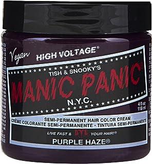 Manic Panic Semi-Permament Haircolor Purple Haze 4 Ounce Jar (118ml) (6 Pack)