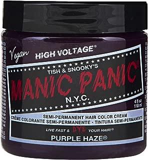 Manic Panic Semi-Permament Haircolor Purple Haze 4 Ounce Jar (118ml) (2 Pack)