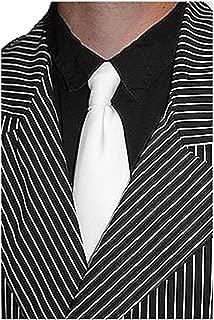 Gangster Style White Necktie Mafia Necktie Costume Accessory Standard