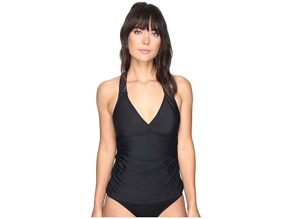 Athena Lucia Removable Soft Cup Tankini (Black) Women