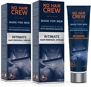 comprar comparacion 2 x NO HAIR CREW Crema Depilatoria Íntima Premium - Extra Suave Hecha Para Hombres - Conjunto de 2-200ml
