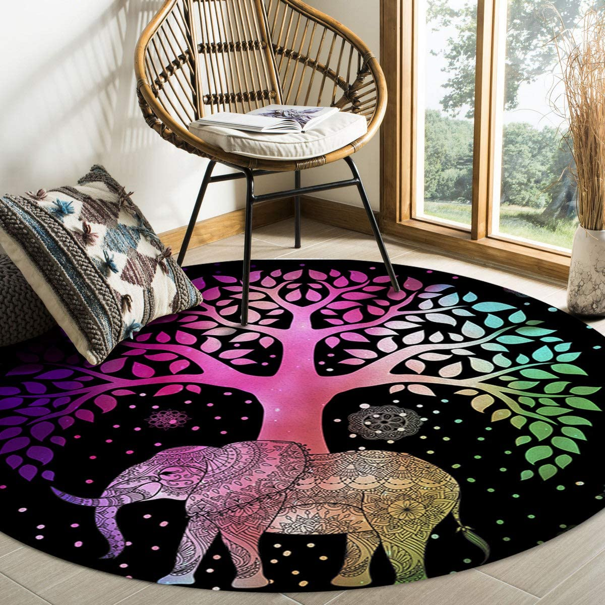 FAMILYDECOR Modern Floor Mats Do Not 6ft In stock Area Fall Rug Off Round Attention brand