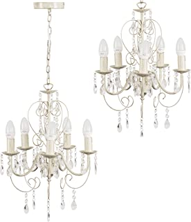 Shabby Look LED plafond suspendu lampe oiseau lustre salle à manger lustre E27