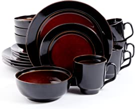 Gibson Overseas, Inc. 101788.16RM Gibson Home Bella Galleria 16-Piece Reactive Glaze Dinnerware Set Service of 4, Stonewar...