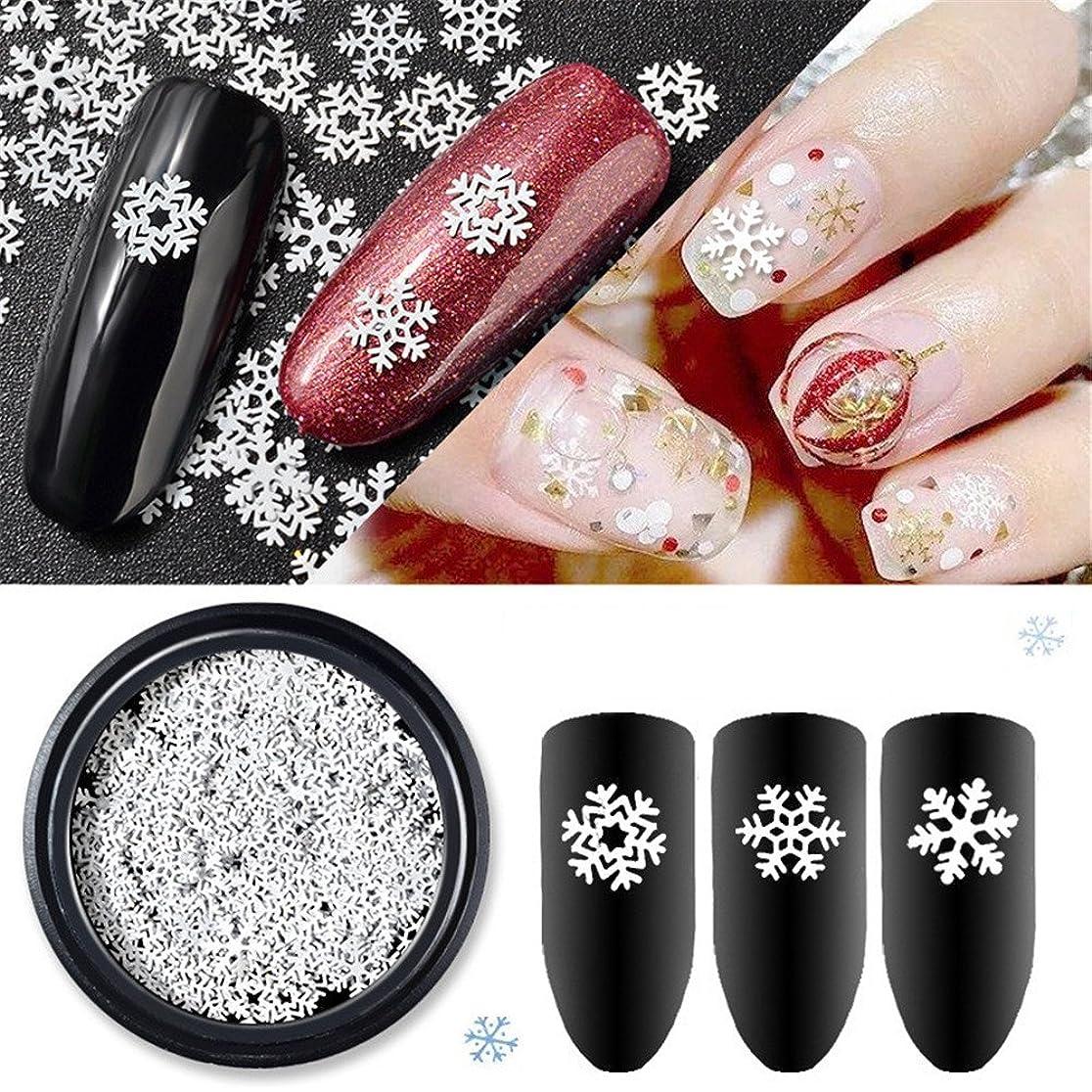 ガウン意図的うつ雪の結晶  冬ネイル 雪花 クリスマス  ネイルパーツネイルデコレーションジェルネイル ネイルアート