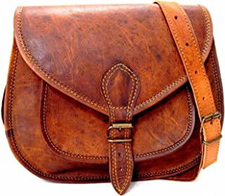 Shakun Leather Handmade Womens Vintage Genuine Brown Cross Body f95f7e9b3da55