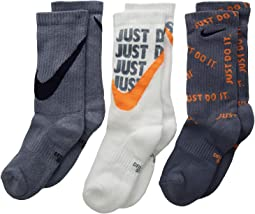 Performance Everyday Cushioned Crew Graphic Socks 3-Pair Pack (Little Kid/Big Kid)