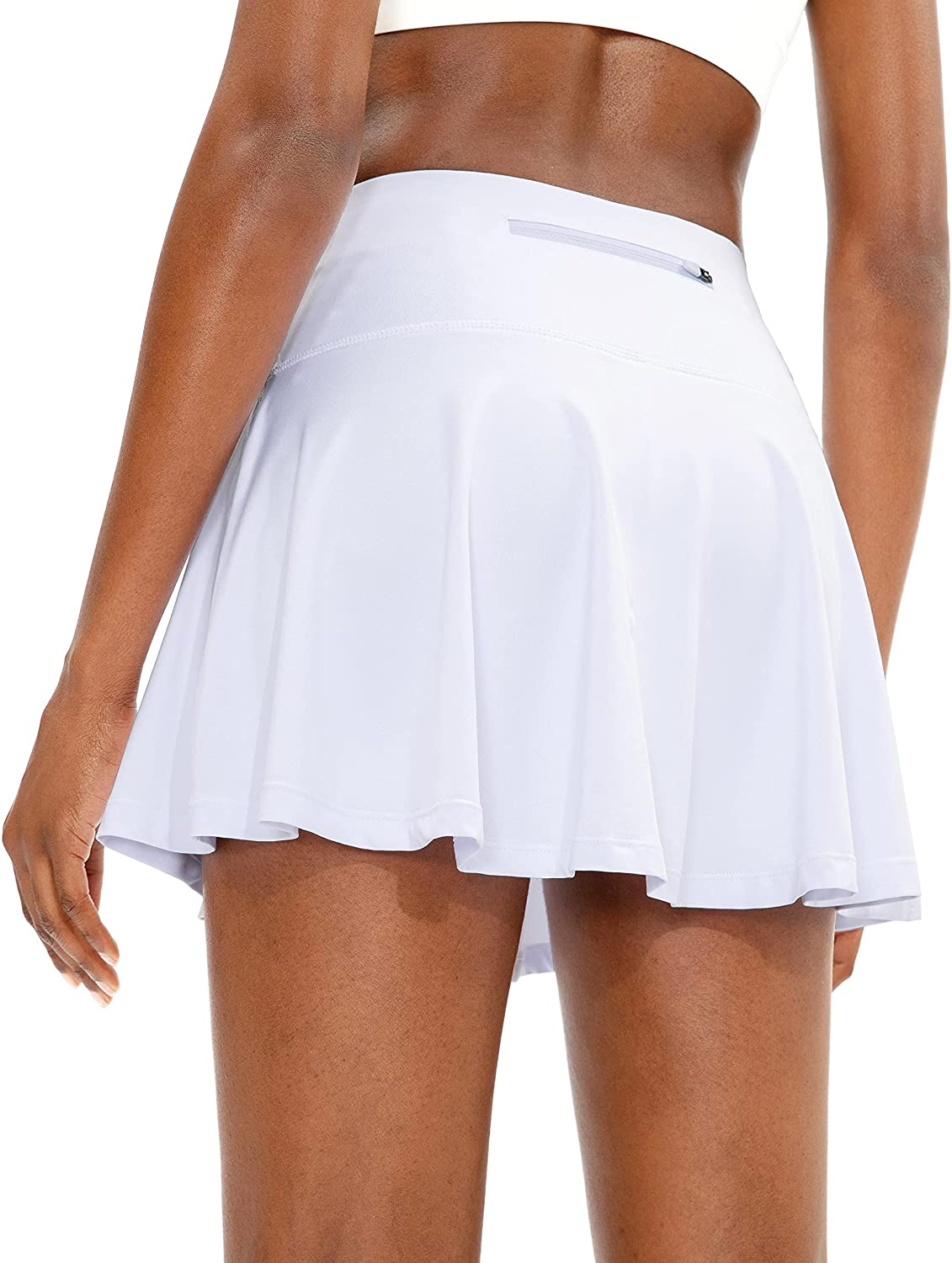 SANTINY Pleated Tennis Skirt for Women with 4 Pockets Women's High Waisted Athletic Golf Skorts Skirts for Running Casual : Clothing, Shoes & Jewelry
