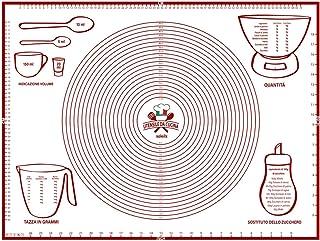 40 * 60cm LKMING Tappetino da Cucina per Impasto,Antiscivolo Tappetino da Forno per Impastare,Tappetino da Forno in Silicone,spianatoia per impastare,Viene Fornito con Raschietto Taglia Impasto.