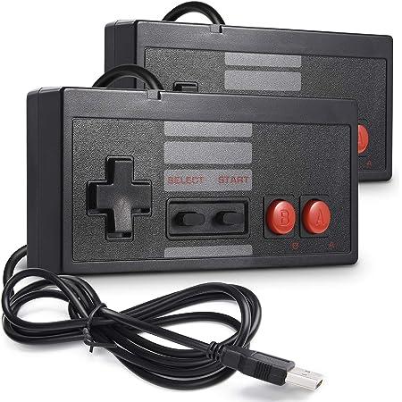 2 Pack Classic USB Controller for NES Gaming, miadore PC USB NES Controller Retro Game Pad Joystick Raspberry Pi Controller for Windows PC Mac Linux RetroPie NES Emulators