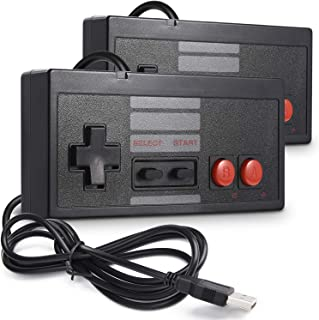 2 Pack Classic USB Controller for NES Gaming, miadore PC USB Controller Retro Game Pad Joystick Raspberry Pi Controller for Windows PC Mac Linux RetroPie NES Emulators