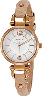 (Renewed) Fossil Georgia Analog White Dial Womens Watch - ES3745#CR