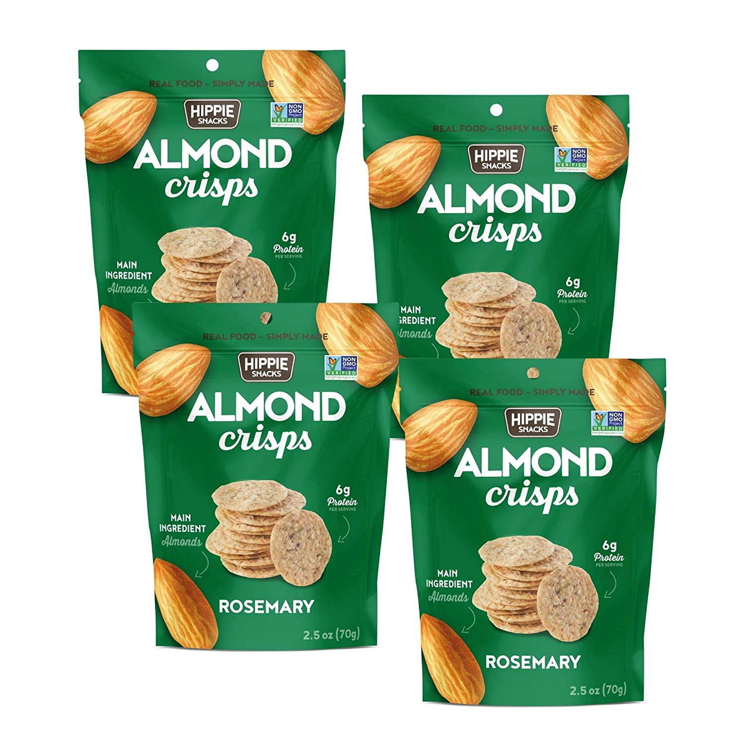 HIPPIE List price SNACKS ROSEMARY ALMOND Product High Plant-based Protein CRISPS