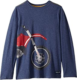 Screen Print Long Sleeve Tee (Toddler/Little Kids/Big Kids)