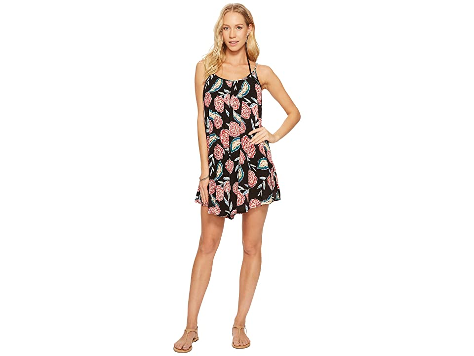Roxy Windy Fly Away Print Dress Cover-Up (Anthracite Mexican Roses) Women