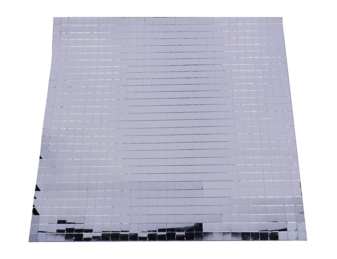 800 Small Silver Self-Adhesive Mirror Mosaic Tiles Mirror Tiling Party DIY Decor 10mm x 10mm …
