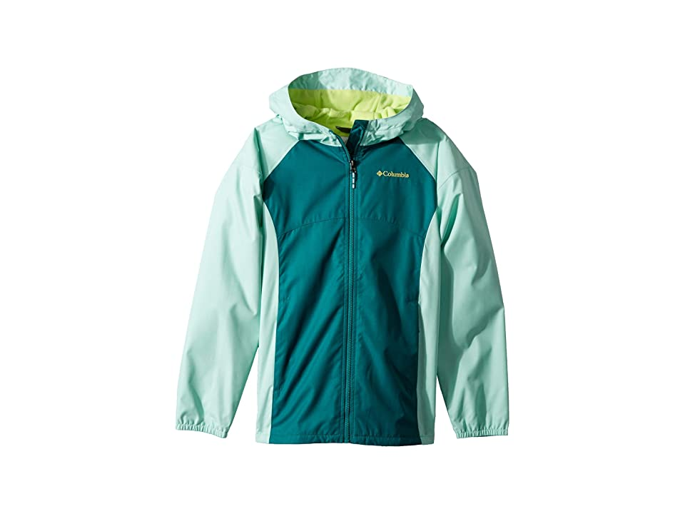 Columbia Kids Endless Explorer Jacket (Little Kids/Big Kids) (Emerald Heather/Pixie Heather/Tippet) Girl