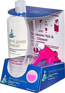 Good Green Cleaner Bathroom Tub & Tile Cleaner Starter Set 32oz. Food Contact Safe. Reusable, Recyclable, Biodegradable, Bio-Based, Bathroom Cleaner, Tile, Counters, Safe