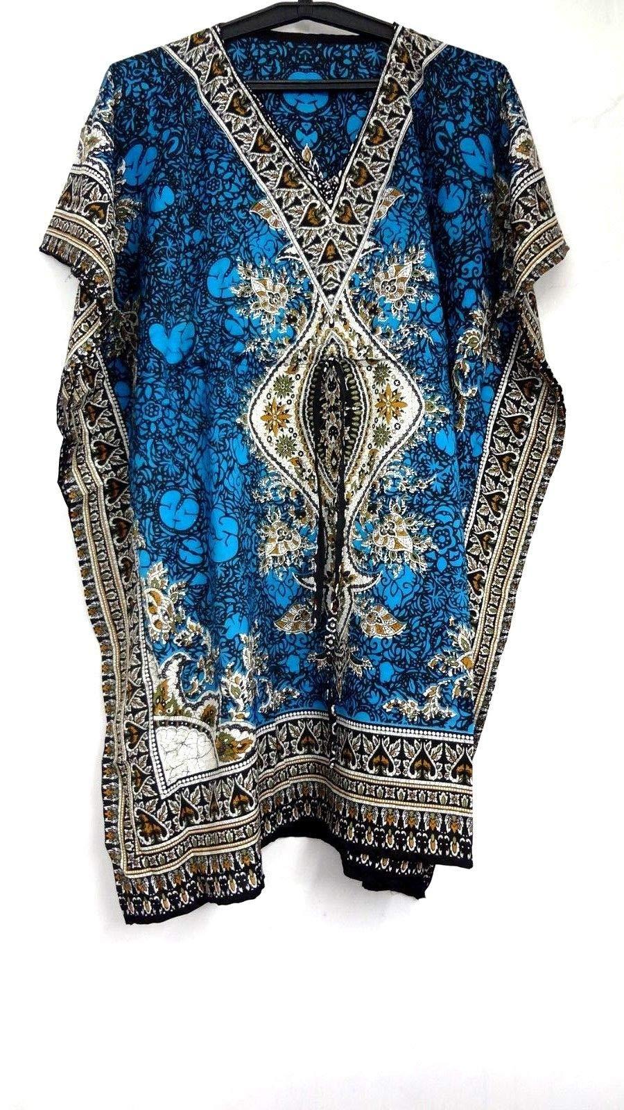 Short Kaftan dress Hippy Boho Maxi Plus Size Women Caftan Tunic Dress Night-Gown