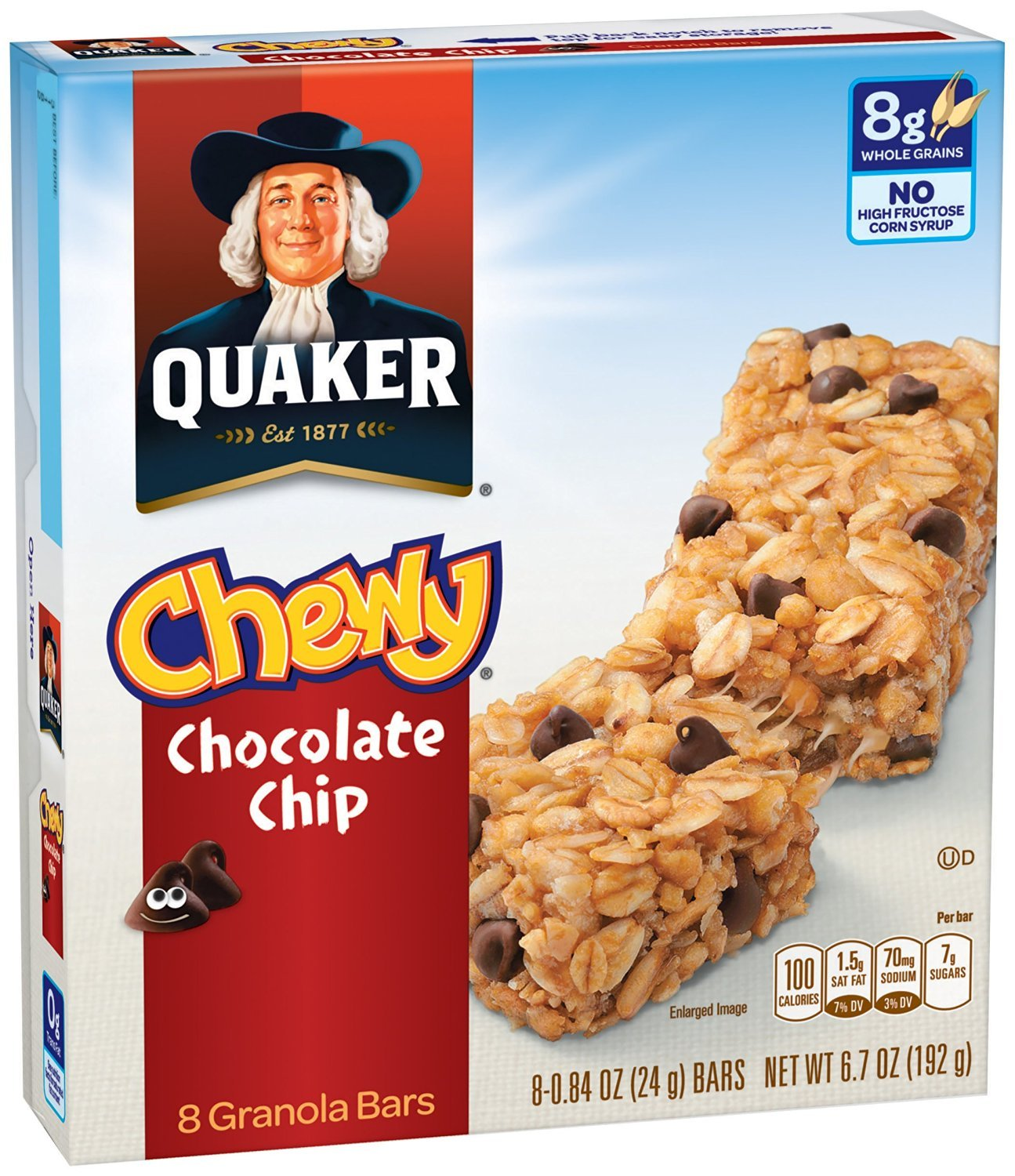 Quaker Chewy Granola Bar Chocolate Snack Chip sold Arlington Mall out Per Bars 8
