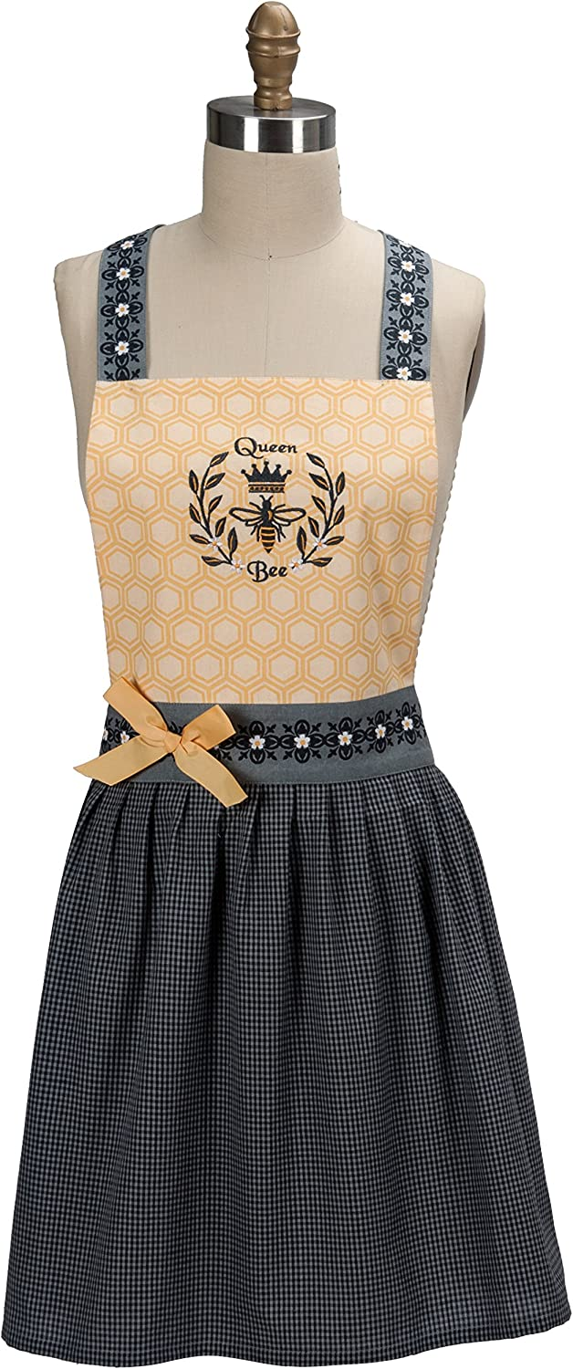 Kay Dee Baltimore Mall Designs Queen Bee Apron Hostess Embroidered Free Shipping New
