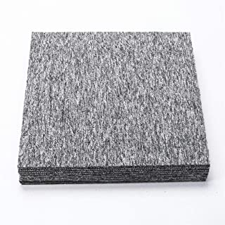 Lovely999 20 x Office Carpet Heavy Duty Bitumen Backed Tiles. Mosaic Full Floor Rugs Square Mat,2 Neutral Colors and Endurance Suit for Interior Decoration and Good at Noise Reduction