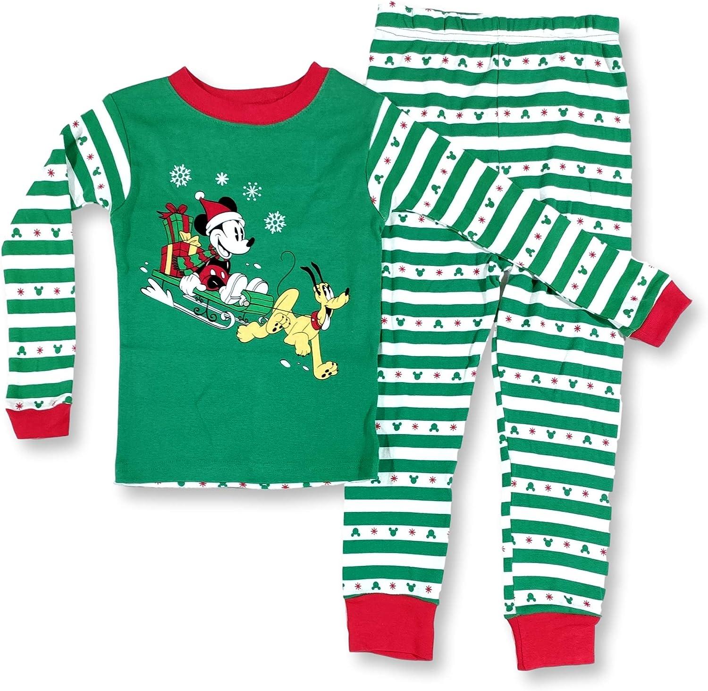 Mickey Mouse Christmas Pajamas for Toddlers Mickey Pluto Dashing 2-Piece PJ Set
