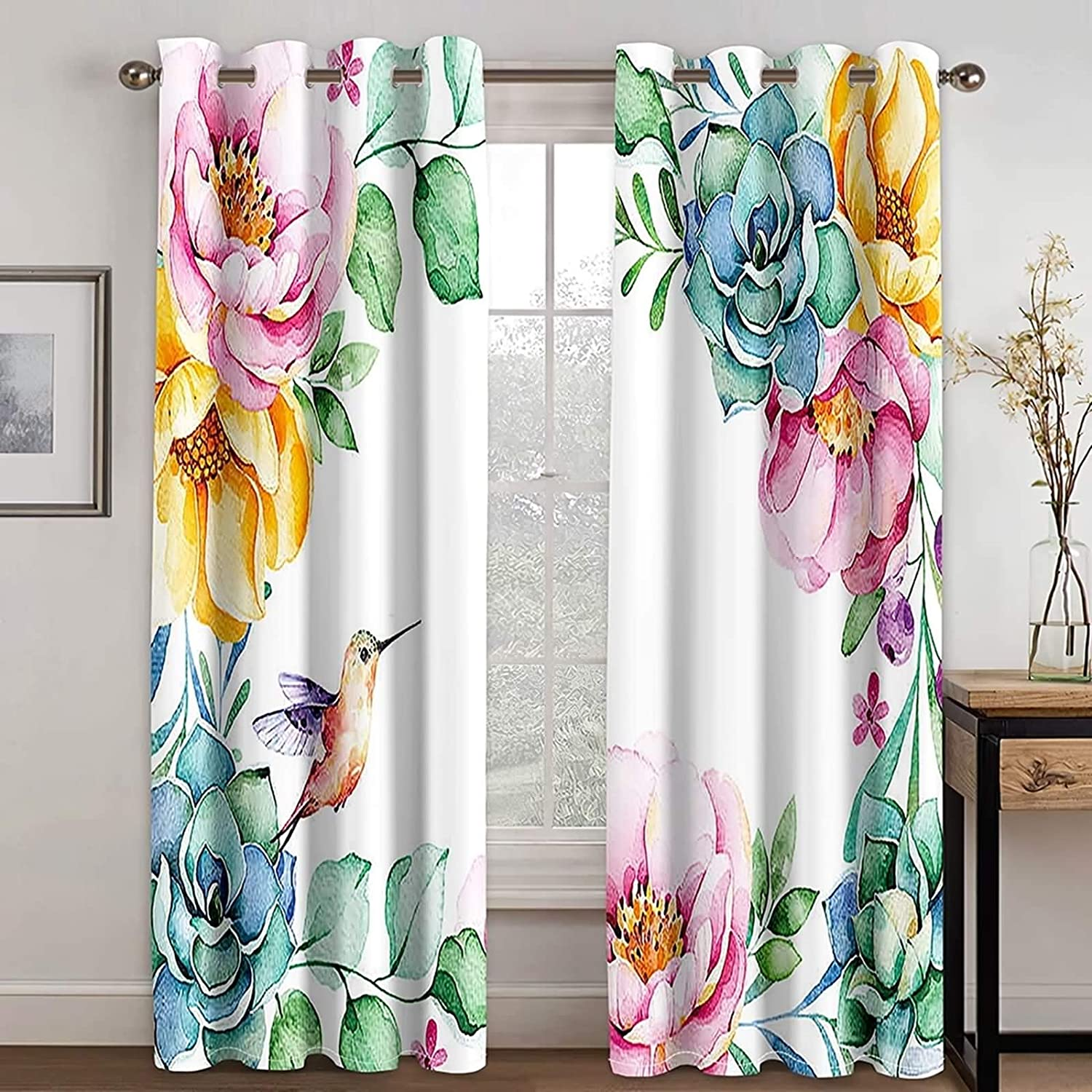 Daesar Bombing new work Curtains 4 years warranty for Bedroom 2 Room Panels Living K and