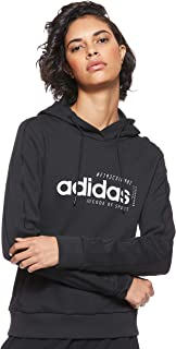 adidas Women's W BRILLIANT BASICS HOODY Sweatshirts, Black, Small, 8-10