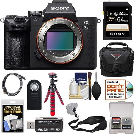 $1999 Get Sony Alpha A7 III 4K Digital Camera Body with 64GB Card + Case + Tripod + Strap + Remote + Kit