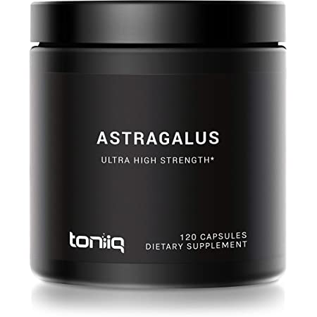 Ultra High Strength Astragalus Root Extract - 70% Polysaccharide Content - 12,000mg 20x Concentrated Extract - 120 Astragalus Capsules