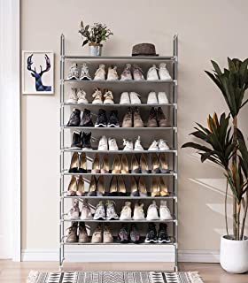 Lukzer 9 Layer Shoe Rack for Home Multi-Purpose Rack for Clothes, Toys, Shoes / 27 Pair Shoe Shelf Easy Installation Stand...