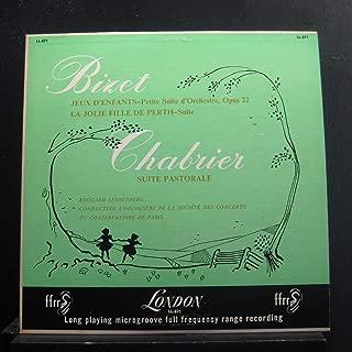 Eduard Lindenberg, L'Orchestre De La Societe Des Conerts Du Conservatoire De Paris - Bizet Jeux D'Enfants-Petite Suite d'Orchestre / Chabrier Suite Pastorale - Lp Vinyl Record