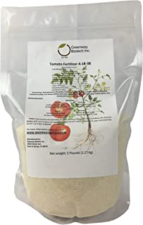 "Tomato Fertilizer 4-18-38 Powder 100% Water Soluble Plus Micro Nutrients and Trace Minerals""Greenway Biotech Brand"" 5 Pounds (Makes 1000 Gallons)"