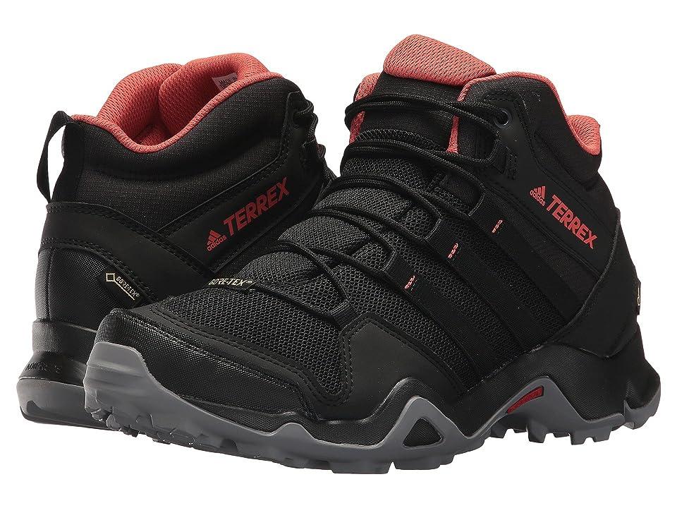 adidas Outdoor Terrex AX2R Mid GTX (Black/Black/Trace Scarlet) Women