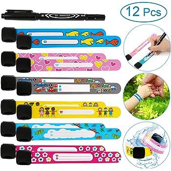 Infoband Usage Unique Enfant Id Bracelet-Pack de 10