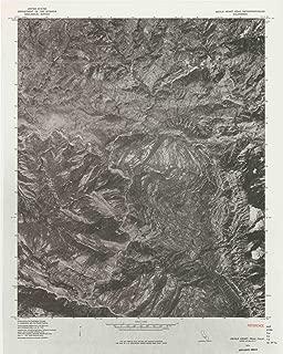 YellowMaps Devils Heart Peak CA topo map, 1:24000 Scale, 7.5 X 7.5 Minute, Historical, 1976, 26.9 x 21.5 in