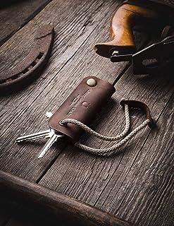 Organizzatore chiave in pelle e portachiavi in pelle | Wood Brown vero e proprio caso Crazy Horse chiave in pelle, portach...