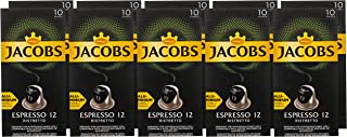 Jacobs - Espresso 12 Ristretto Compatible Aluminium Coffee Capsules for Machine Handpicked Beans - Pack of 100 Drinks