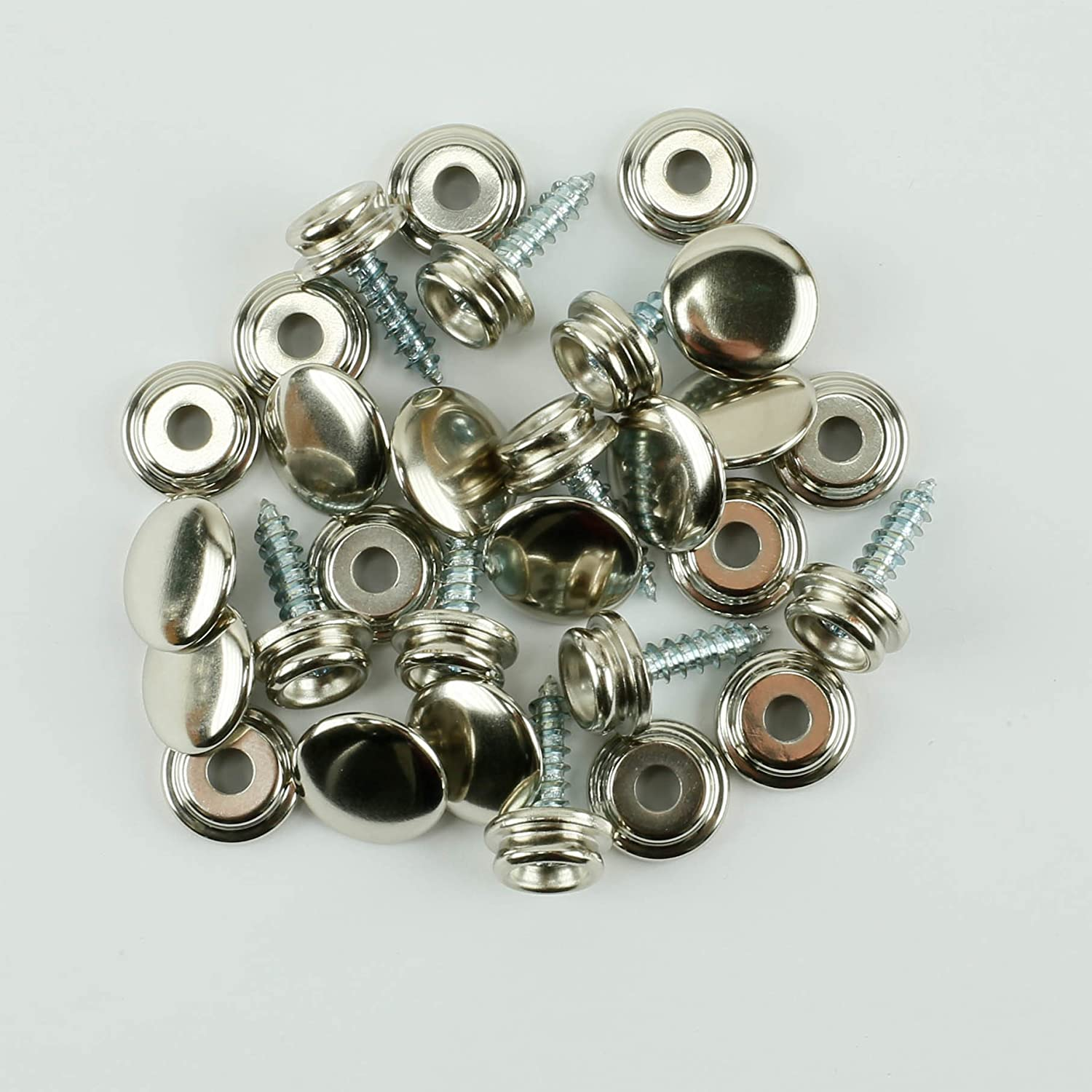 ProTool Screw-in Snap Stud Replacement Nickel Plated A surprise price is realized Kit Nashville-Davidson Mall Brass